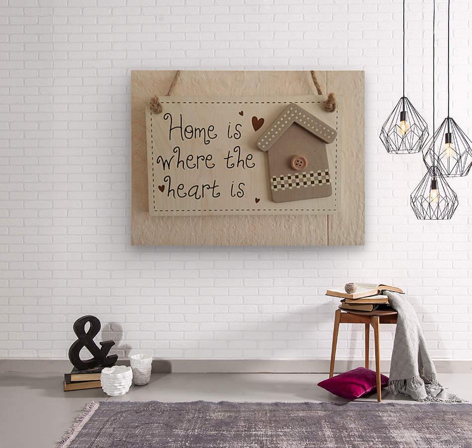 Sweet Home  Wood print