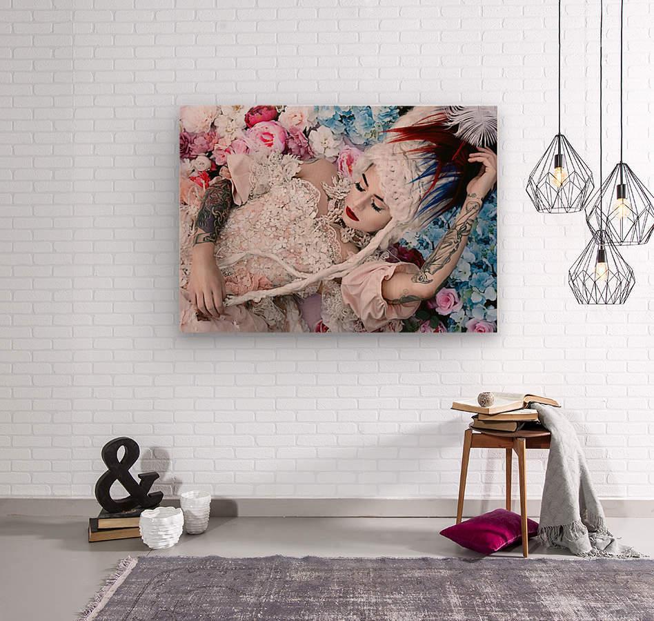 Sleeping Beauty  Wood print