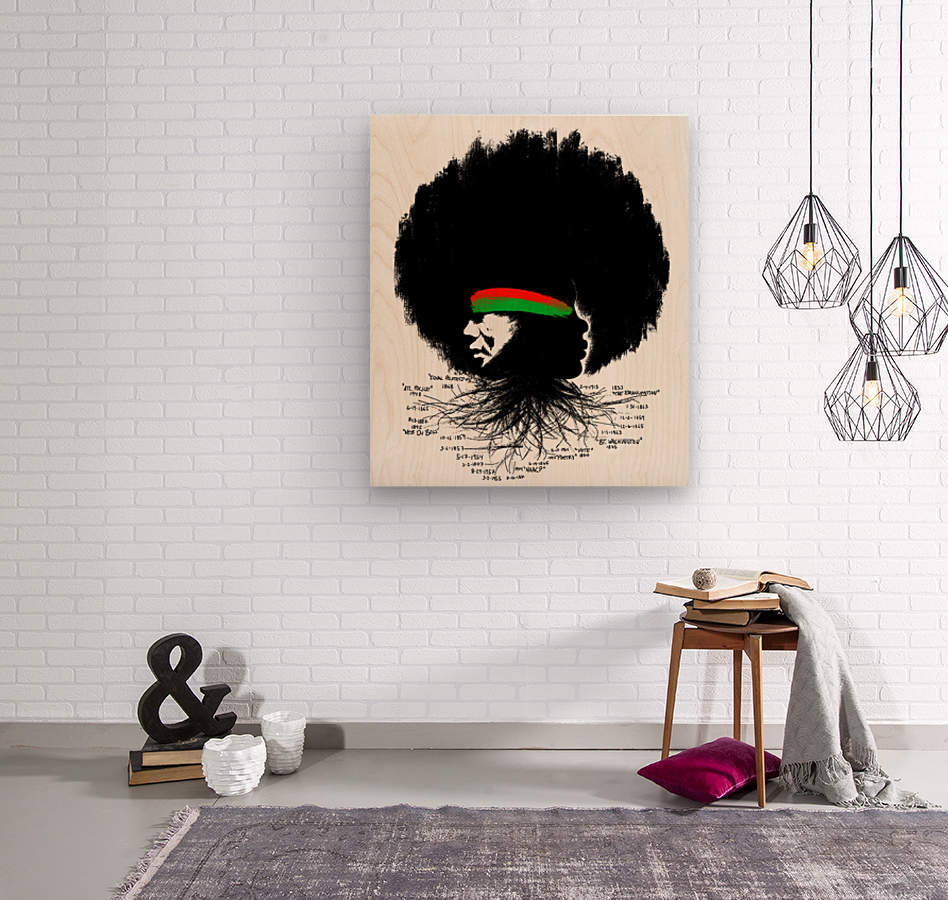 Black History  Wood print