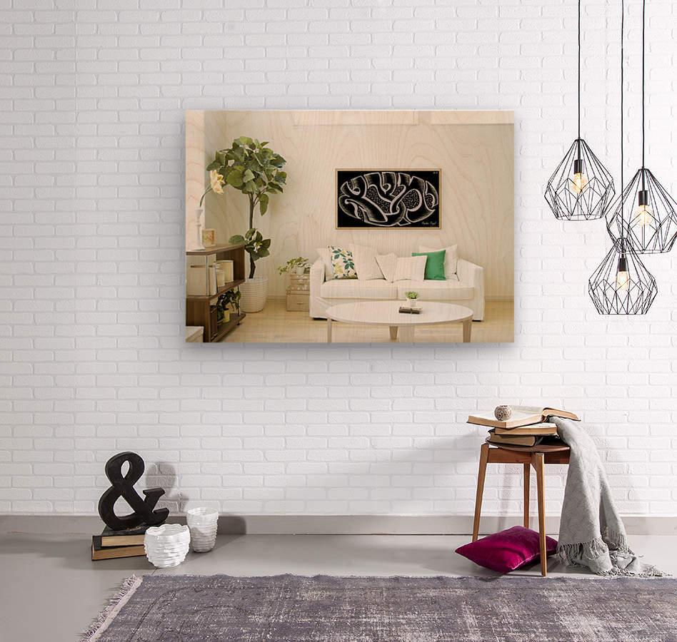 monogram art  YIMTZA   -FOR DISPLAY ONLY  Wood print