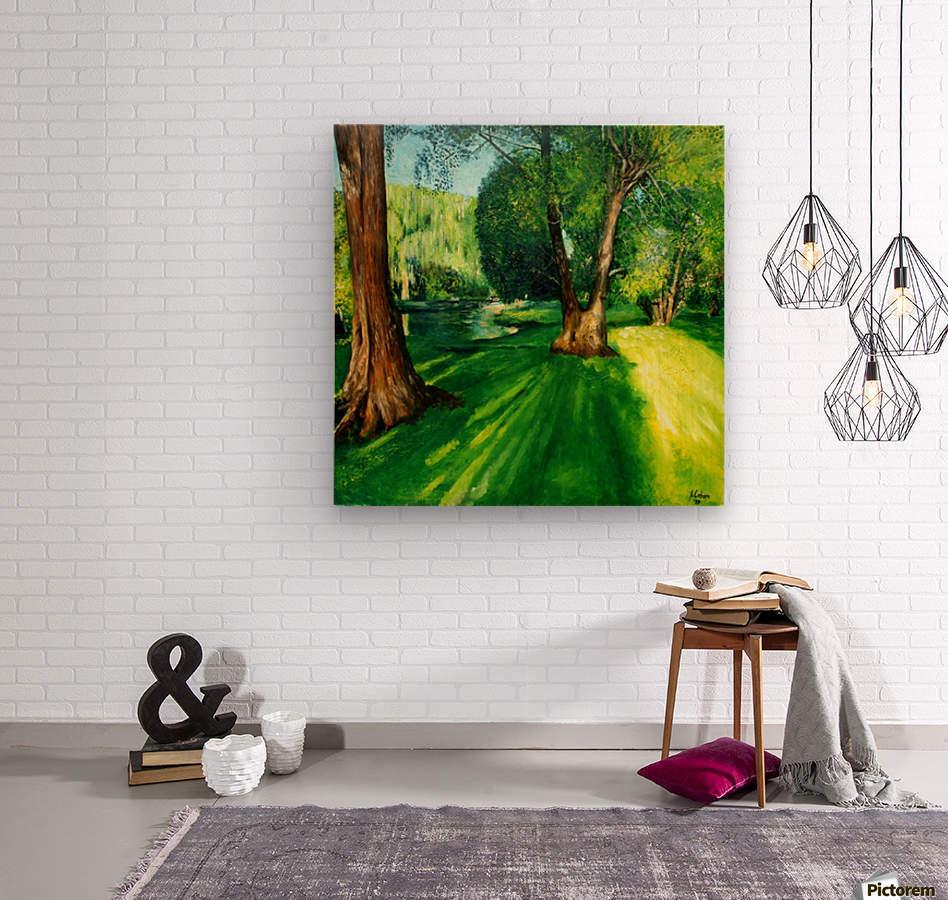 Arboretum shades  Wood print