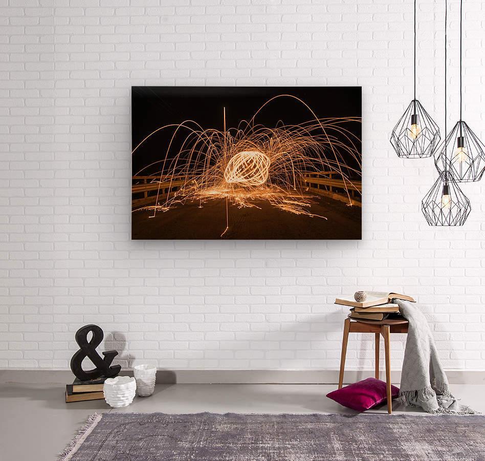 Spiral orb  Wood print