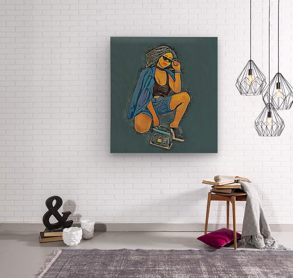 Superspy  Wood print