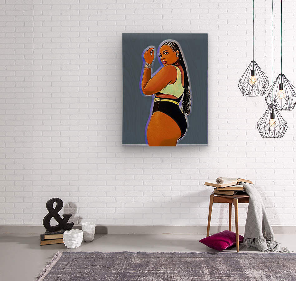 Fly girl  Wood print
