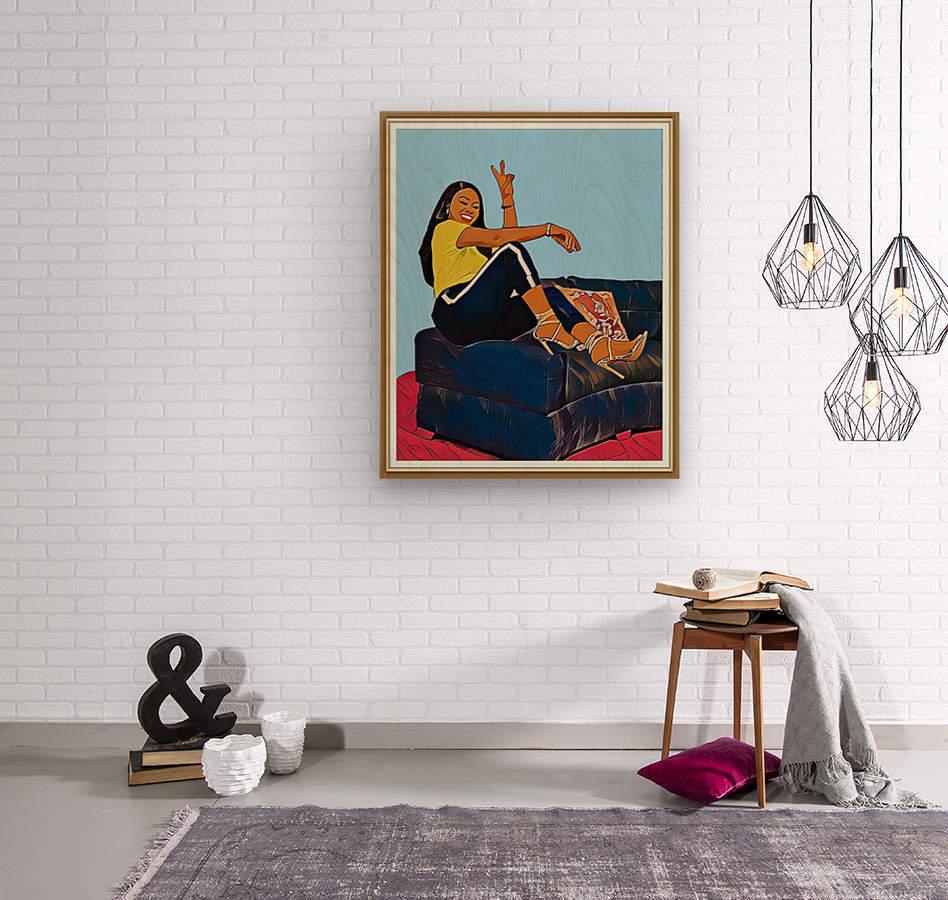 Super Splash  Wood print