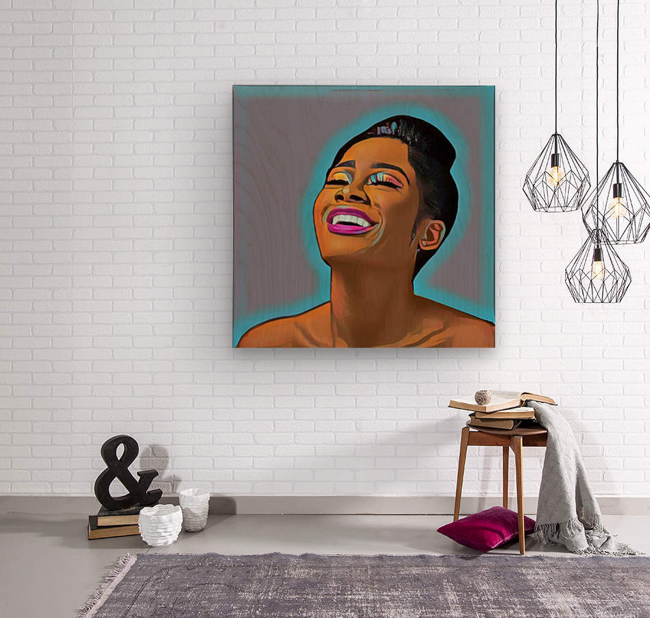 Keep Smiling  Wood print