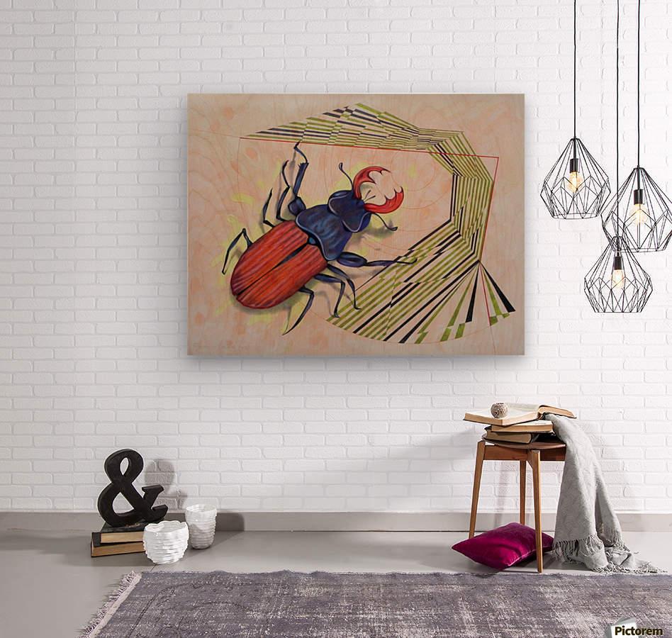 stag beetle  Wood print