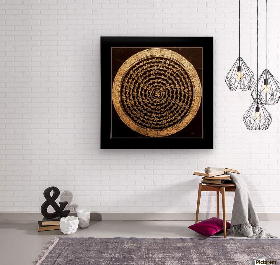 Nepali Goldwork: Tranquility  Wood print