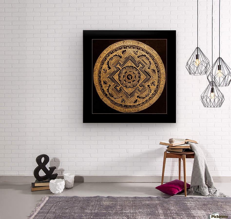 Nepali Goldwork: Peace  Wood print