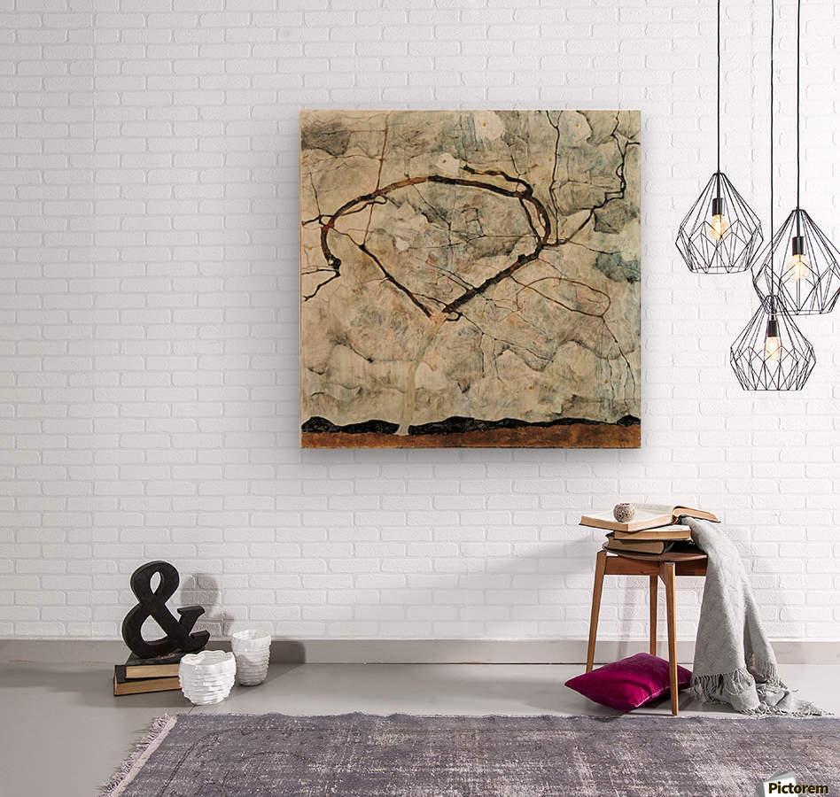 Egon Schiele - Winter Tree  Wood print