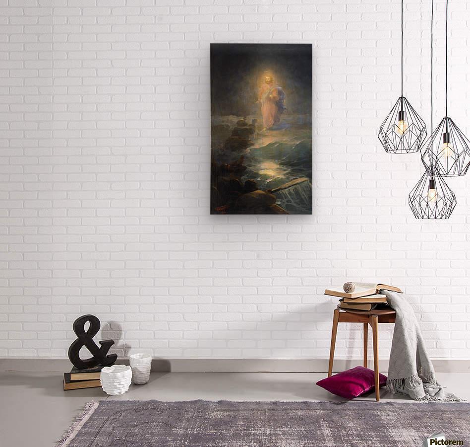 Jesus walks on water  Wood print