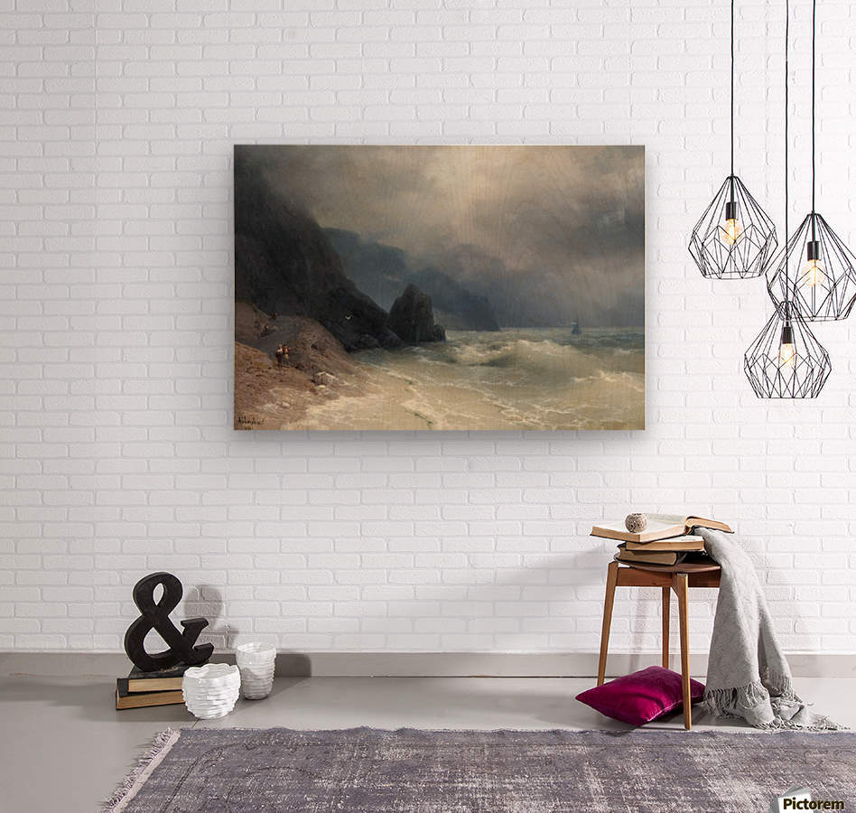 View of the sea  Wood print