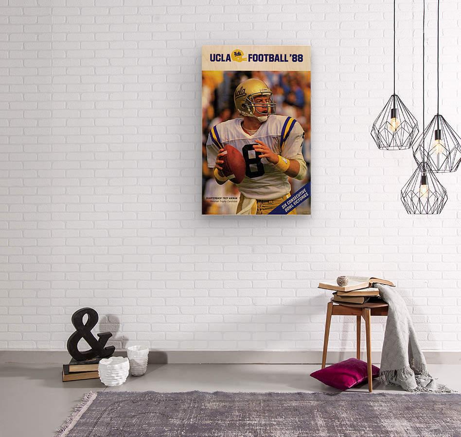 1988 Troy Aikman UCLA Football Poster  Wood print