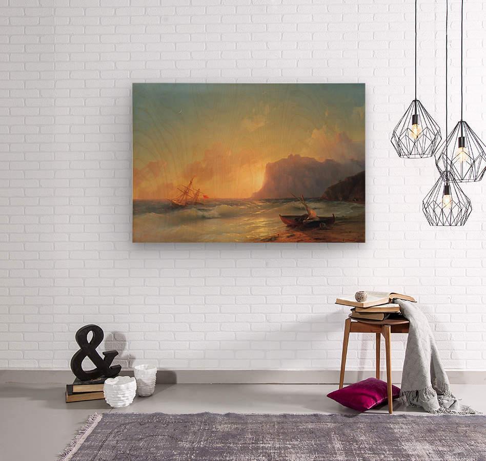 Sea. Koktebel  Wood print