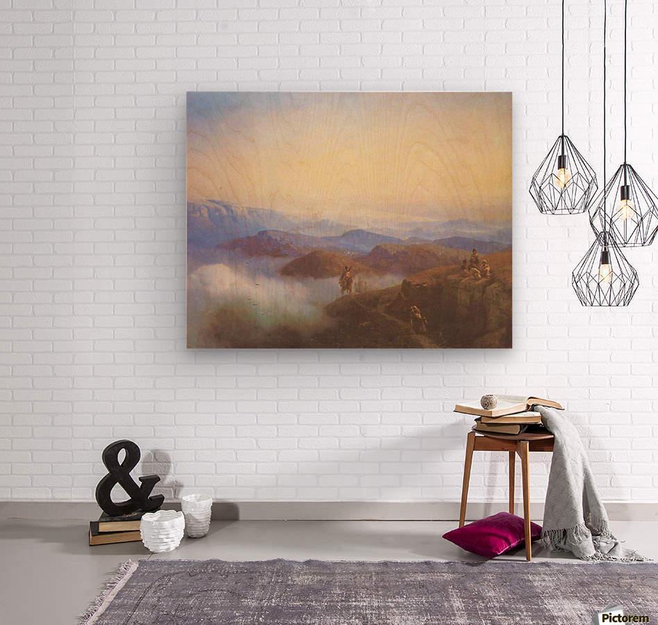 Range of the Caucasus mountains  Wood print
