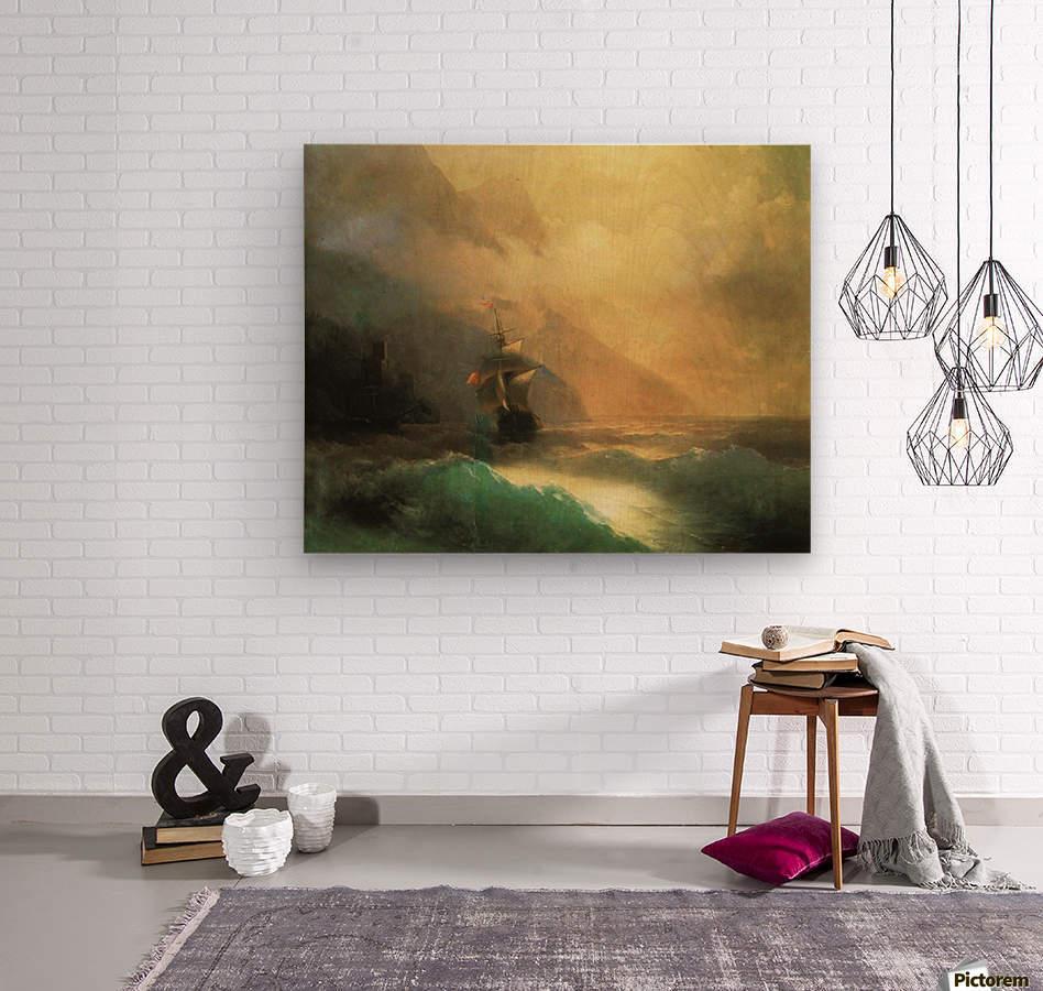 Marine landscape Sea  Wood print
