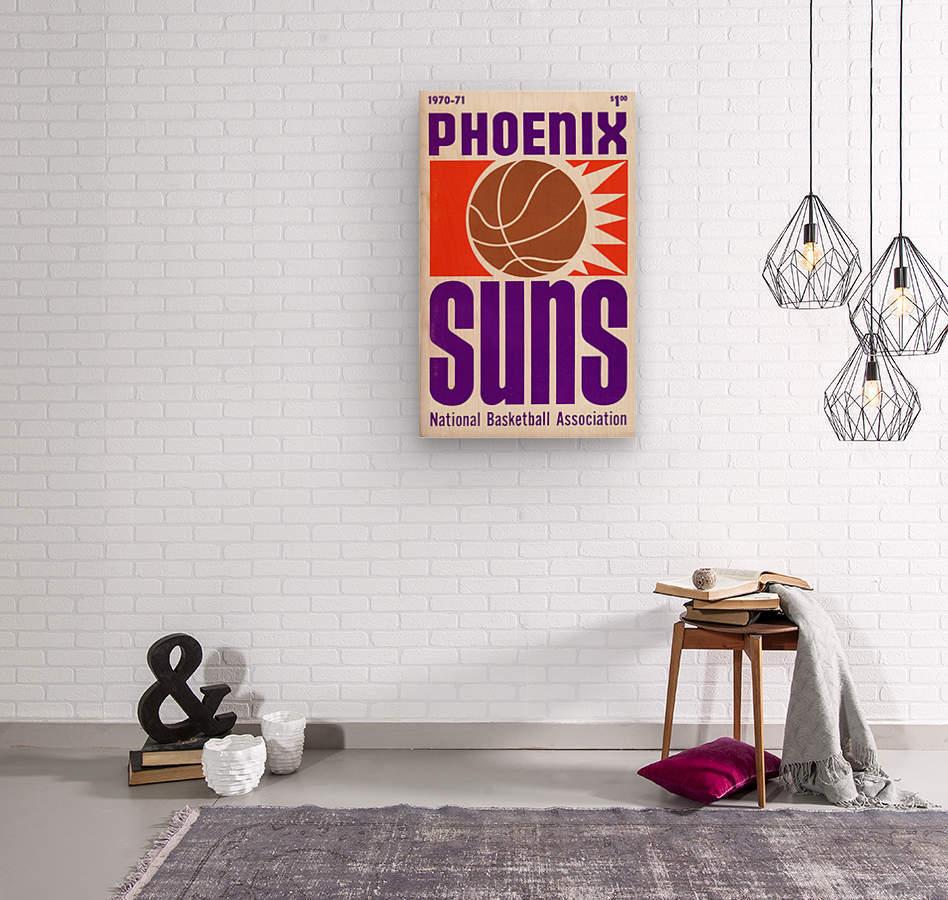 1970 Phoenix Suns  Wood print