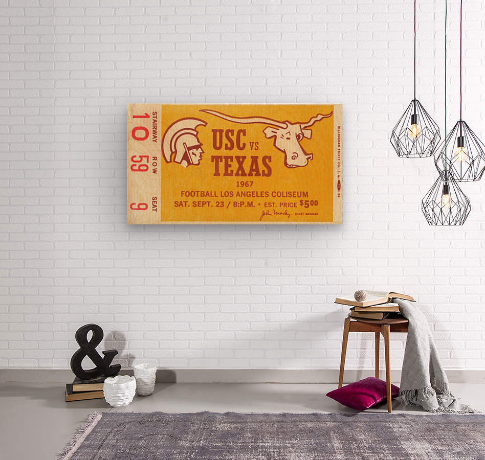 1967 USC vs. Texas   Wood print