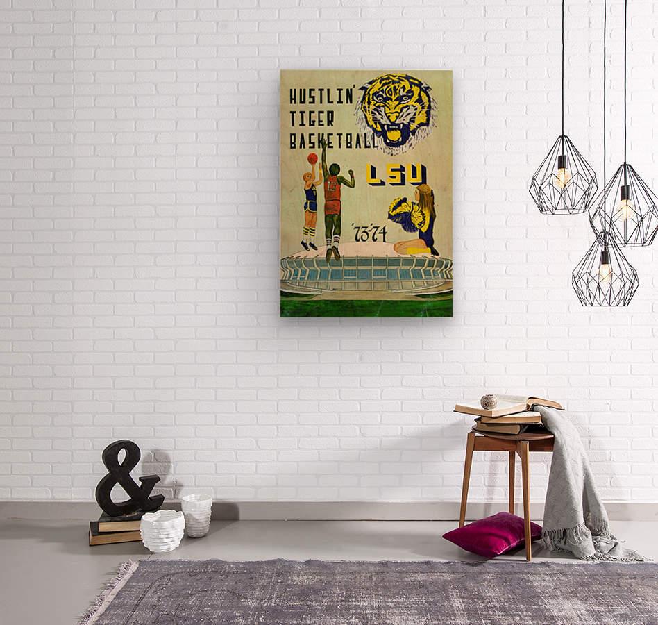 1973 Hustlin Tiger Basketball  Wood print
