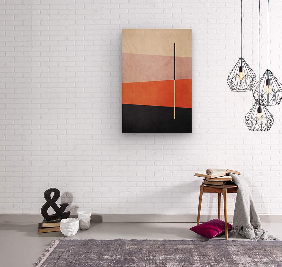 Textured Shapes 06 - Abstract Geometric Art Print  Wood print