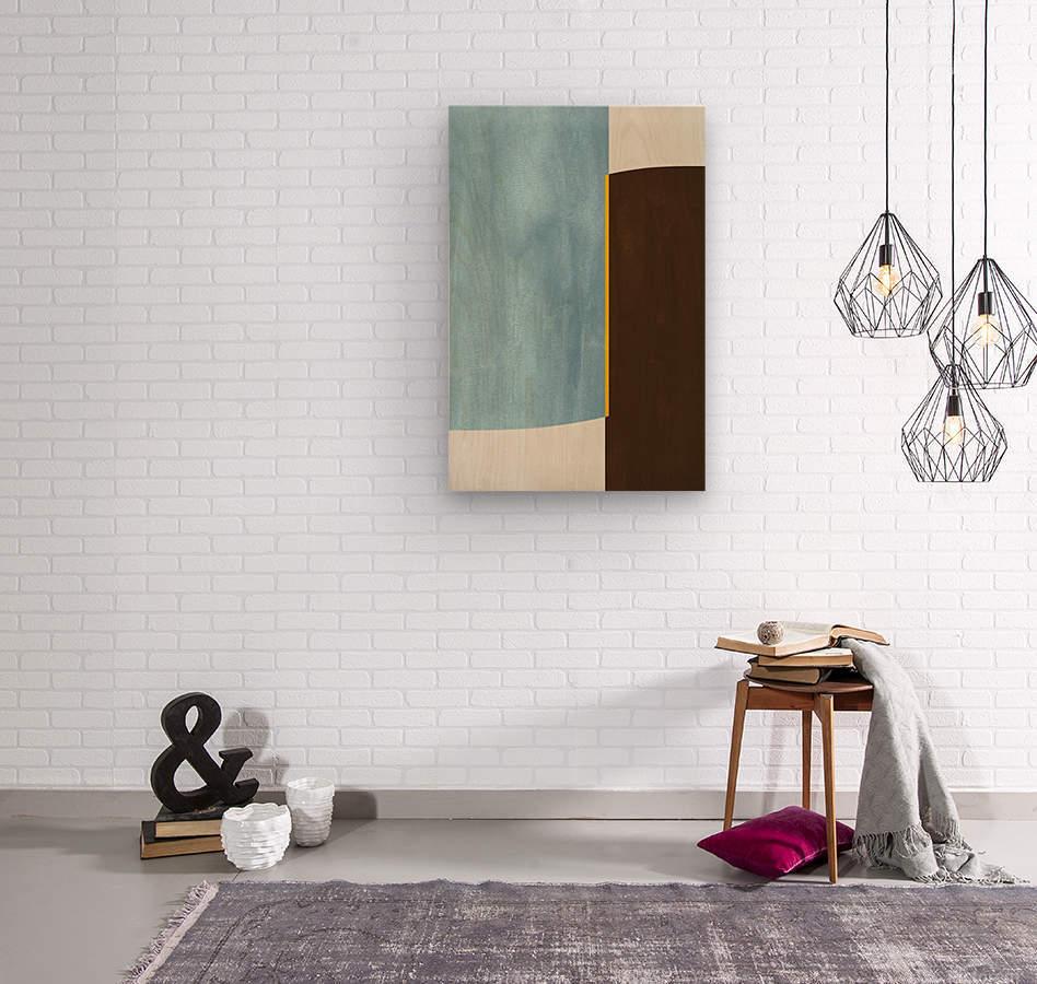 Textured Shapes 05 - Abstract Geometric Art Print  Wood print