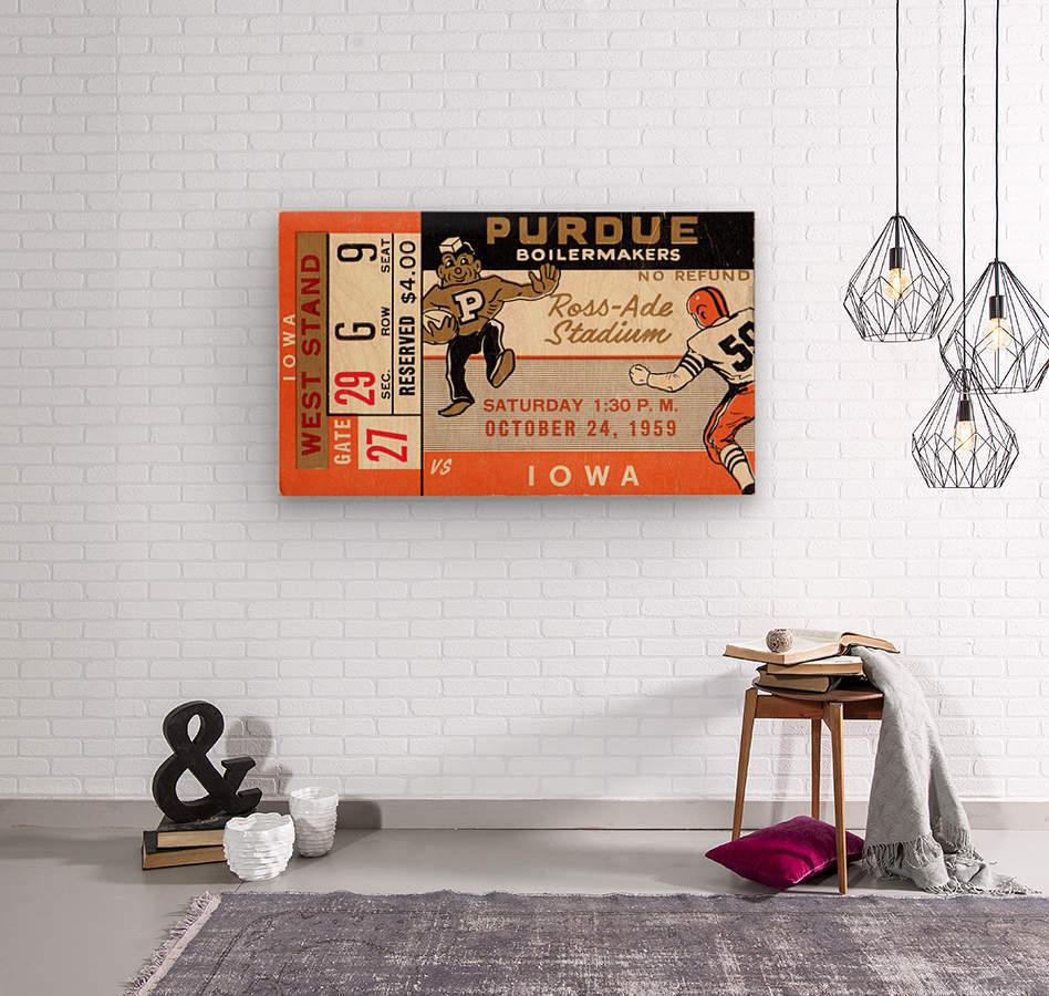 1959 Purdue vs. Iowa  Wood print