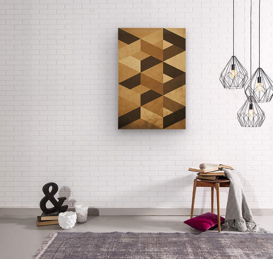 Textured Shapes 07 - Abstract Geometric Art Print  Wood print