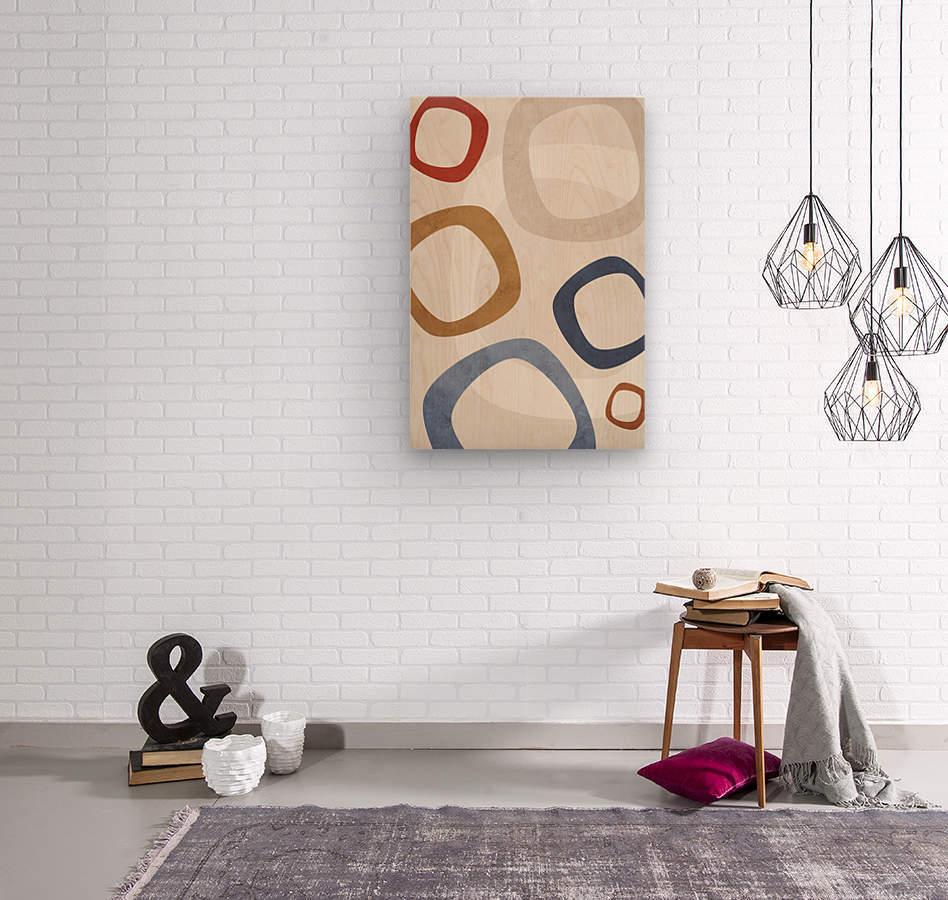 Textured Shapes 08 - Abstract Geometric Art Print  Wood print