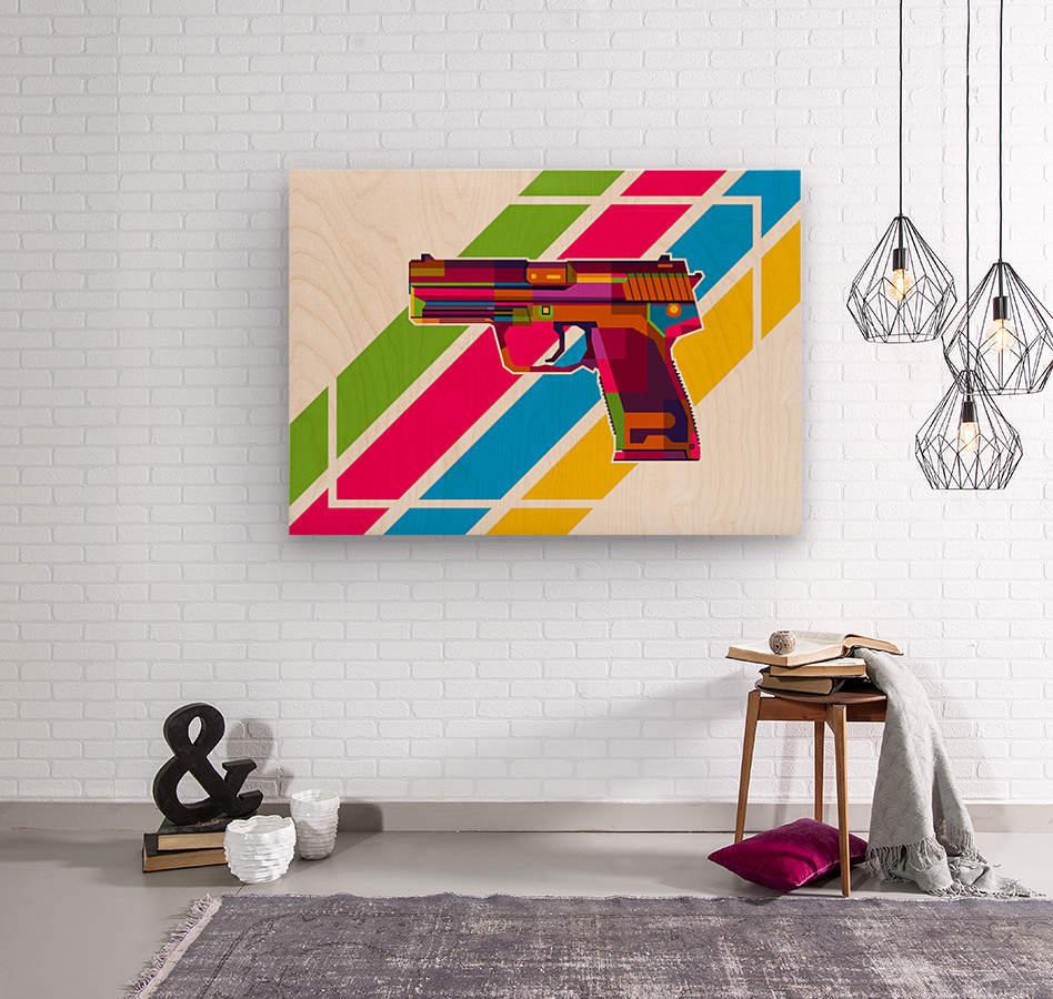 Heckler and Koch USP Handgun  Wood print