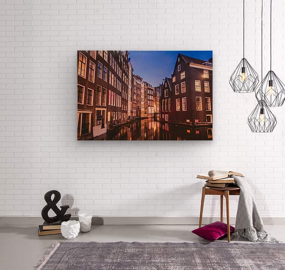 Amsterdam Lights  Wood print