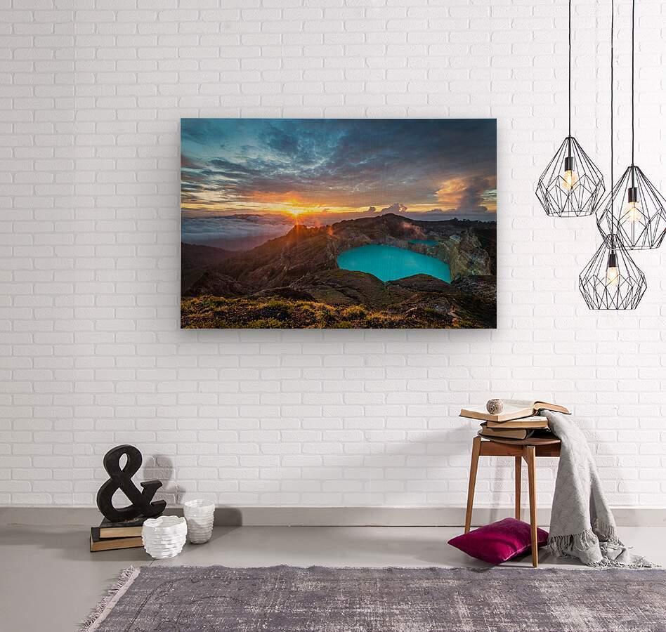 Indonesian Volcano  Wood print