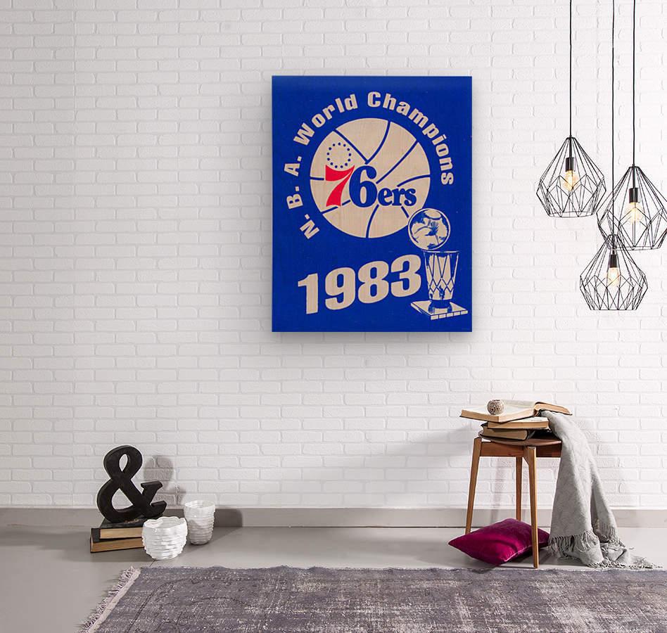 1983 NBA World Champions Philadelphia 76ers Art Reproduction 1  Wood print
