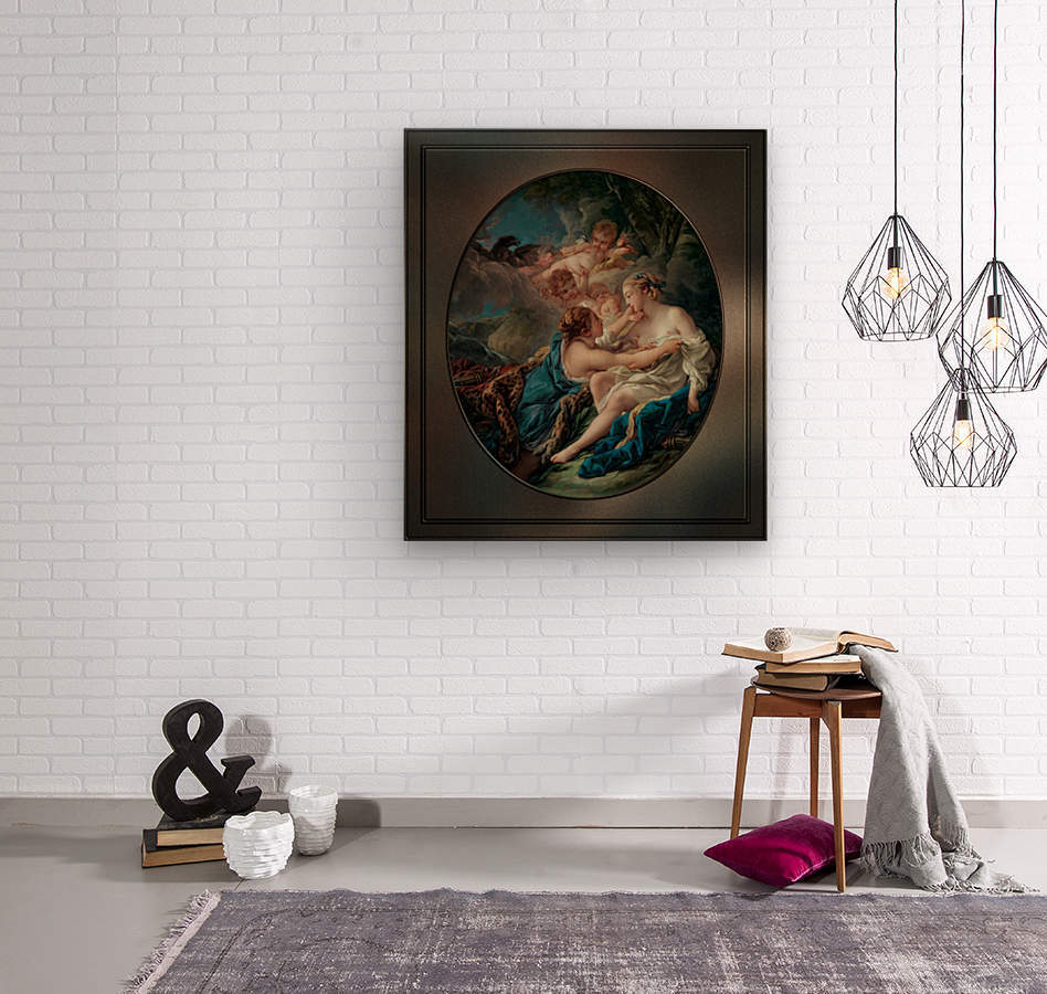 Jupiter In The Guise Of Diana And Callisto by Francois Boucher  Wood print