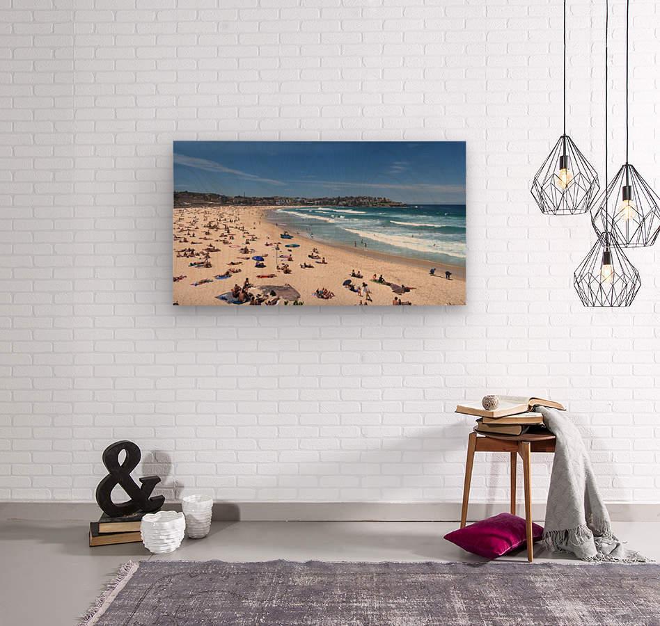 Bondi Beach Panoramic  Wood print