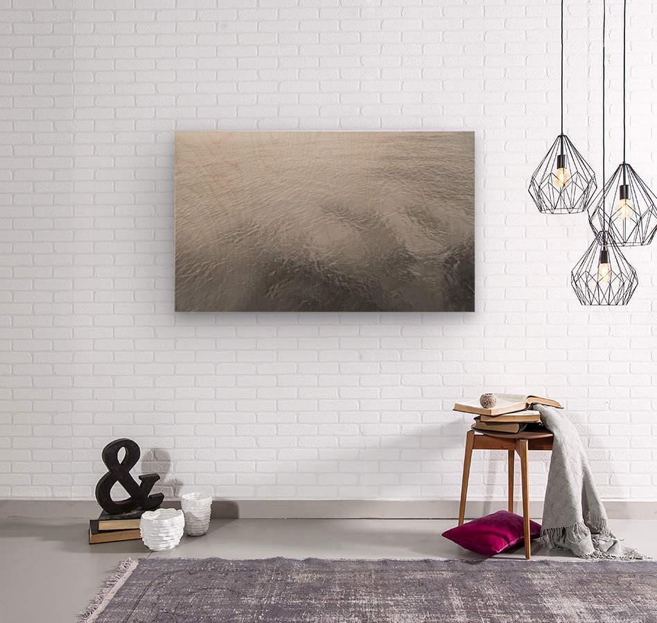 Open Waters B&W  Wood print