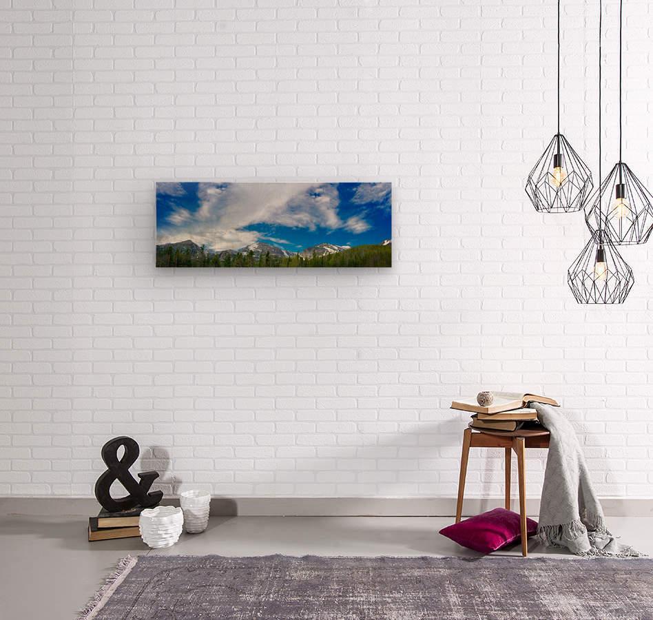 Rocky Mountain Range  Wood print