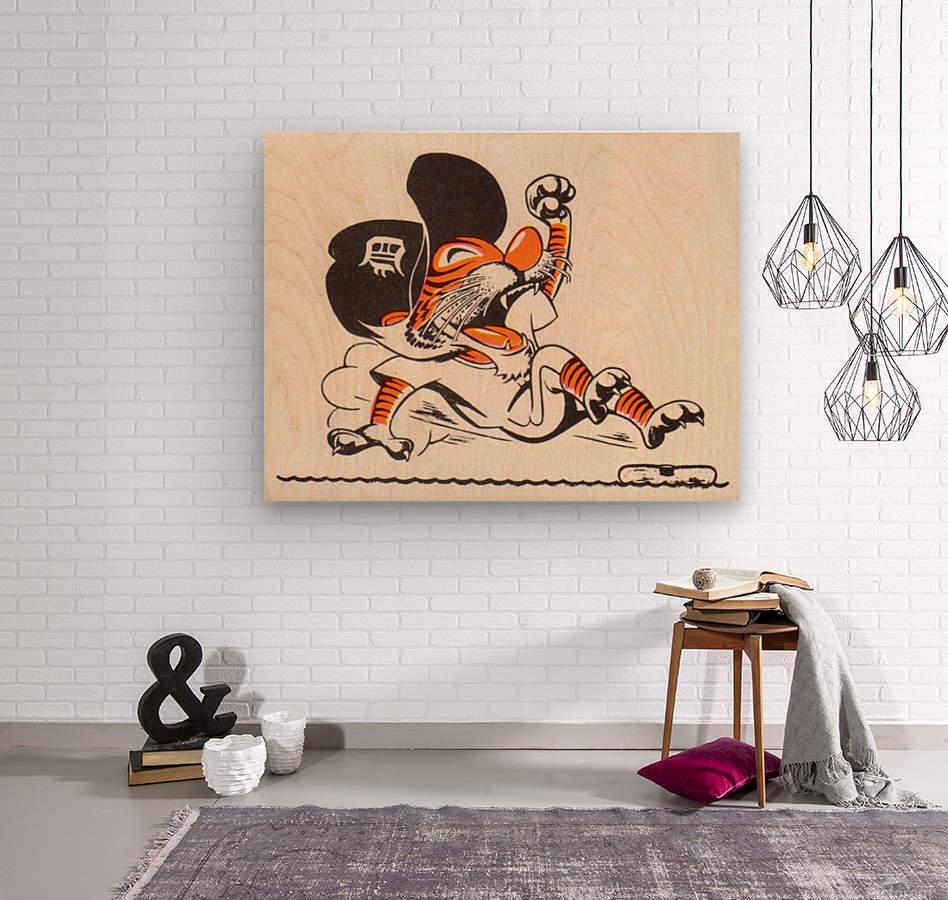 1971_Major League Baseball_Detroit Tigers_Best Sports Cartoons  Wood print