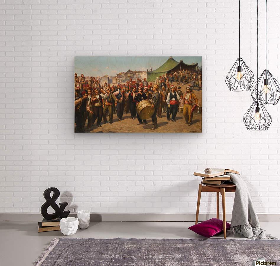 Bayram Celebration  Wood print