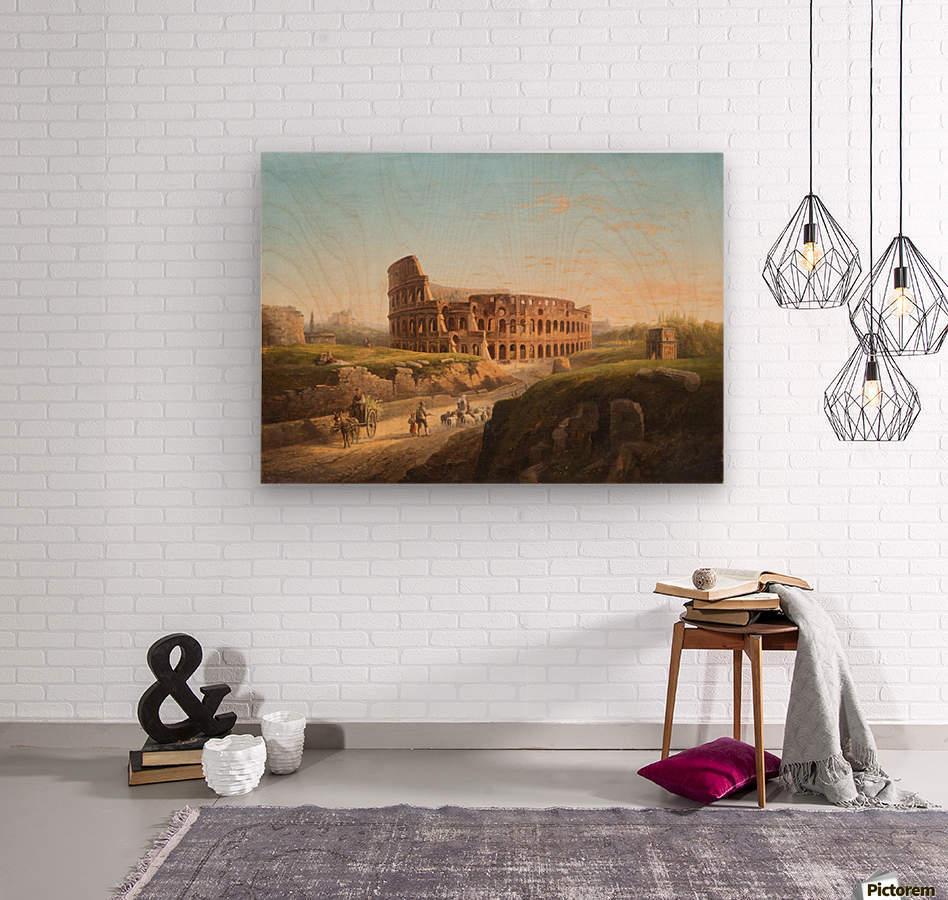 Vista del Coliseo  Wood print