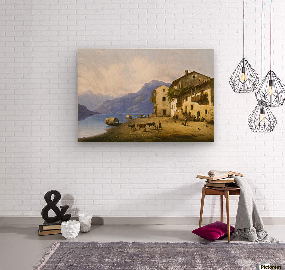 Landscape near Lake Como  Wood print