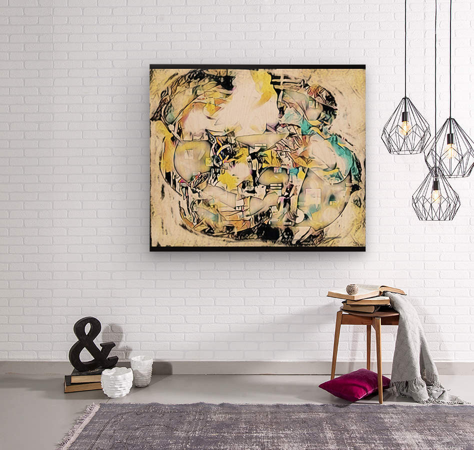 Mosaic Labyrinth  Wood print
