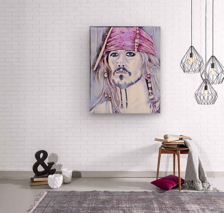 Portrait dun pirate  Wood print