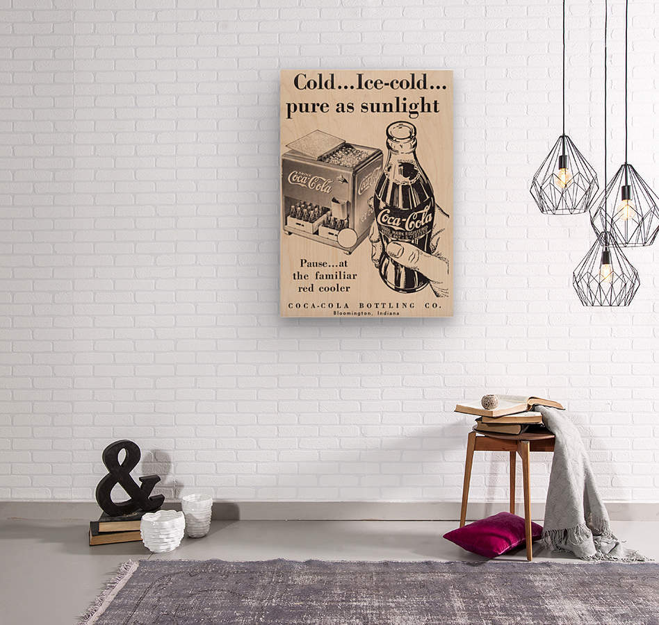 Vintage Coke Ad Bloomington Indiana  Wood print