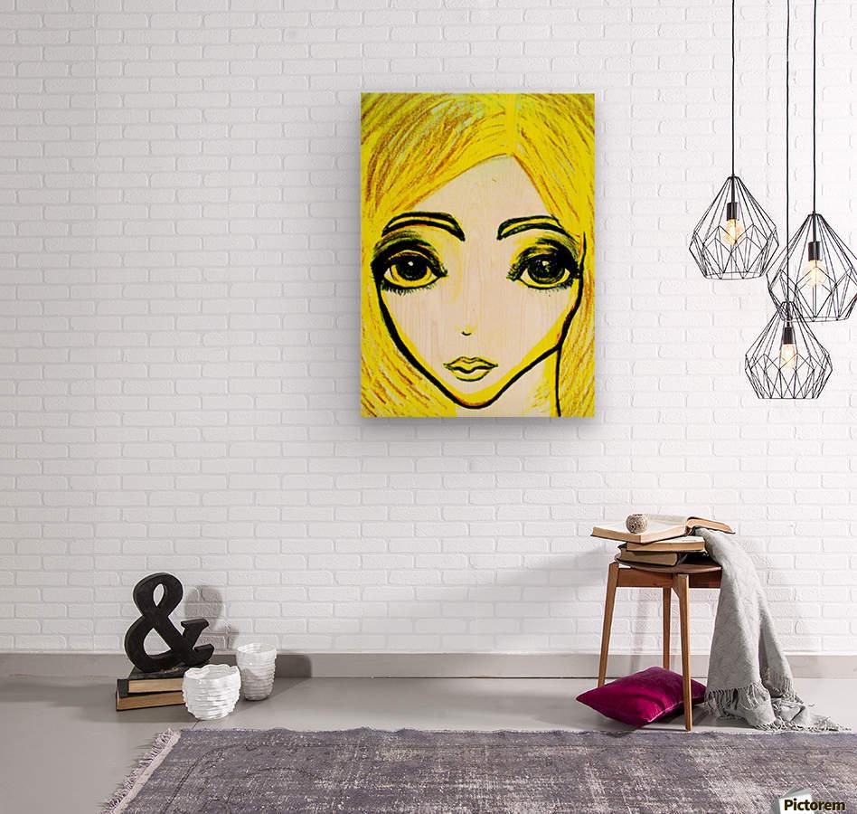 yellowgirl1  Wood print