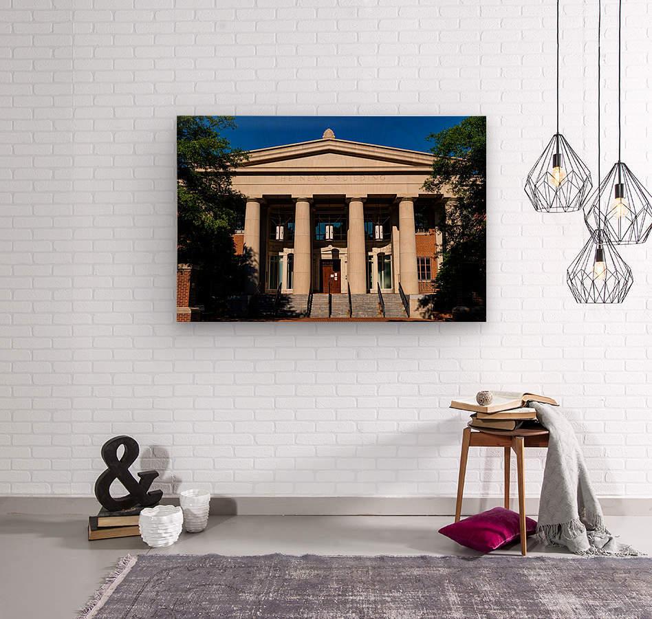 The News Building   Athens GA 07343  Wood print