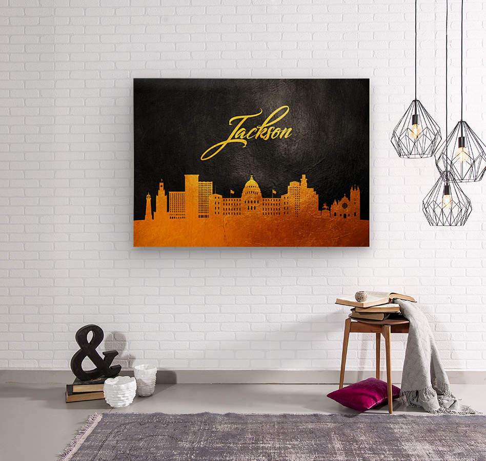 Jackson Florida Skyline Wall Art  Wood print