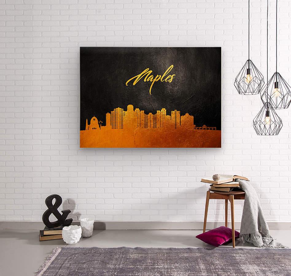 Naples Florida Skyline Wall Art  Wood print