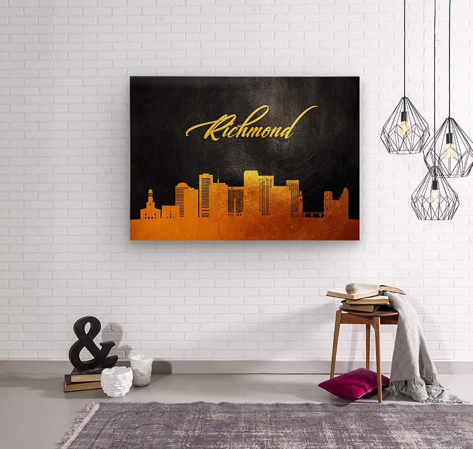 Richmond Virginia Skyline Wall Art  Wood print