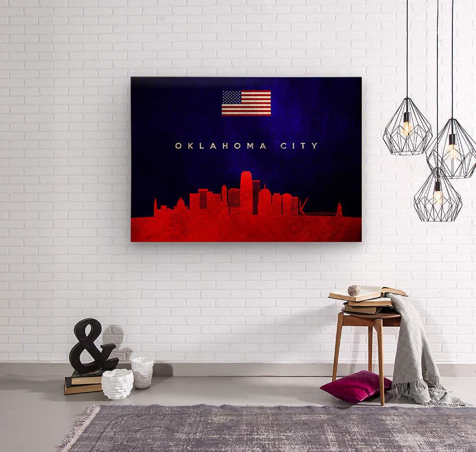 Oklahoma City Oklahoma Skyline Wall Art  Wood print
