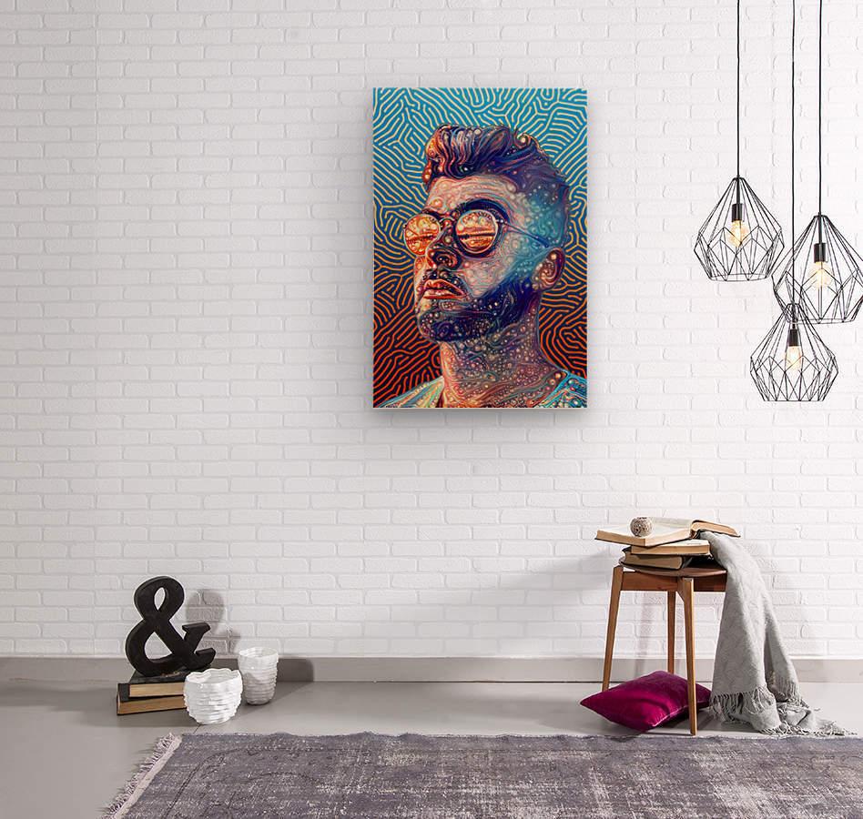 Dreamy Portrait II  Wood print